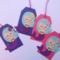 Mermaid party gift tags - thank you - birthday - free Aus Post