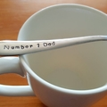 Number One Dad.,Dad Gift, Fathers Day, Dad`s Christmas,Teaspoon,Hand Stamped,