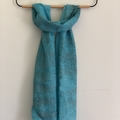 Aqua Textured Silk Scarf