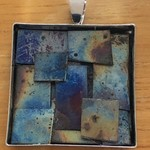 Outback Shed 2 - heat worked titanium pendants