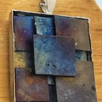 Outback Shed 4 - heat worked titanium pendants