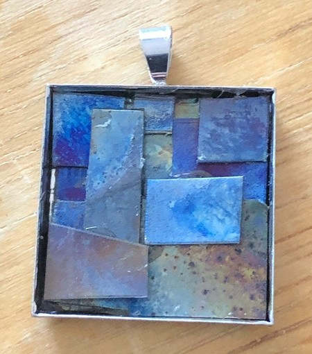 Outback Shed 5 - heat worked titanium pendants