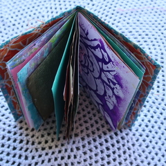 Blue A6 Junk Journal - Art journal - Writing Diary
