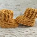 Newborn Crochet Baby Booties Shoes Socks Pregnancy Baby Reveal