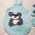 Panda Romper Set