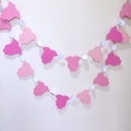 Pink Baby garland. pretty in pink, bunting, pink ombre, baby shower banner.