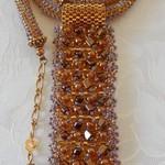 2 piece bead weaved Necklace & earrings
