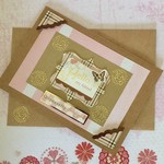 'Hello my friend' Pink and Gold Kraft Birthday Card
