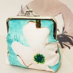 "Large coin purse ""Steel Magnolia"""