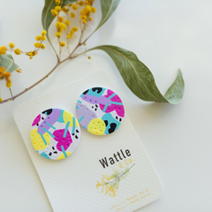 Statement Stud 'Colour your Life' Collection