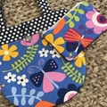 Flowers and butterflies handbag and purse