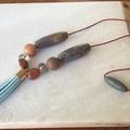 Druzy & Agate Tassel necklace.