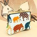 """Medium coin purse """"Elephants"""""""