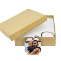 Wooden Photo Personalised Key Ring. Father's Day Gift.
