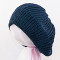 """FREE POST. """"Big Hair"""" beanie for  pony tail or dreadlocks. Or wear as a beret."""