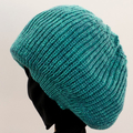 "FREE POST. Black  ""Big Hair"" beanie for  pony tail or dreadlocks. Unisex."
