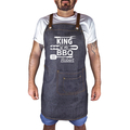 BBQ King Men's Personalised Apron. Men's Gift