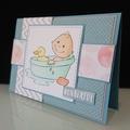 Baby Boy Card - Bathtub and Rubber Duck