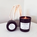 White Lily & Persimmon Scented 100% soy wax travel tin candle. 4oz, 92g, small