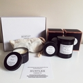 Soy candle gift pack scented 100% soy wax. 2 tumblers, 2 tins, hamper, gift box