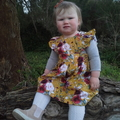 Adalyn Mustard Floral Polly Pinafore