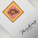 Thinking of You Card - Cross Stitch Butterfly