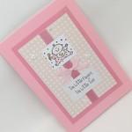 Baby Girl Card - Ten Little Fingers