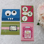Set of 4 Cards Birthday / Thank You / Any Occasion