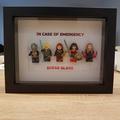 "Personalise Custom Make Customised Mini Figurine Superhero ""In case of emergency"
