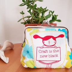 "Medium coin purse ""The New Black"""