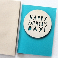 Happy Father's day card | Wood and Paper | For Him Dad Grandad