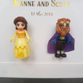 Personalised Customise Custom Make Disney Beauty and the Beast Couple Shadow Box