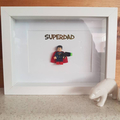 Personalise Custom Make Customised Superdad Superman Father's Day Mini Figure Sh
