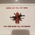 Personalise Customise Dead Pool custom text Shadow Box Frame father's day