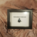 Personalise Customise Black Panther custom text Shadow Box Frame father's day