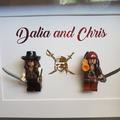 Personalise Customise Custom Make Pirates of the Caribbean Mini Figure Couple Gi
