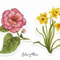 Botanicals Sticker Sheet, Florals & Leaves Planner Stickers, Nature series