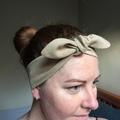 Linen headband - Adult size Light Brown tan colour headband