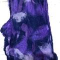 Purple Nuno Felt Scarf