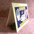 'Hey There!' Pale Yellow Blank Card