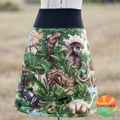 Ladies Dinosaur Skirt  Sizes 6~24 ~ Stretch Waistband