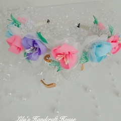 Ribbon Flower headband (children size)