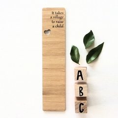 Teacher Bookmark Bamboo Thank You Gift It takes a village...
