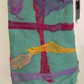 Merino Felted  Blanket with Hand Dyed Cotton Embellishment