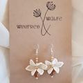 Vintage beaded bridal earrings