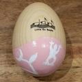 Wooden shaker egg - garden theme