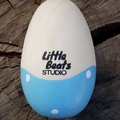 Wooden egg shaker  - dotty dip. First Easter, chocolate-free Easter gift