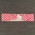 Adults pink spot cotton headband, tie it yourself