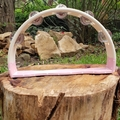 Wooden half-moon tambourine - dotty dip