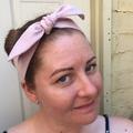 Pink Linen headband - beautiful dusty light pink headband - adults and kids size